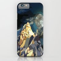 iPhone Cases featuring Night Mountains No. 10 by Bakmann Art