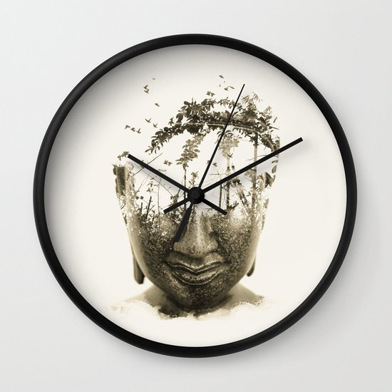 Buddha series - Non-attached  Wall Clock