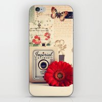 Retro Camera And Red Flo… iPhone & iPod Skin