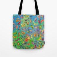 Watercolor Cats Tote Bag