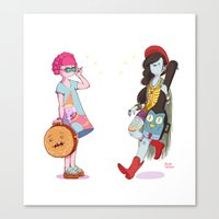 Bubblegum And Marceline Canvas Print