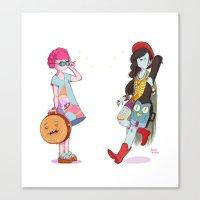 Bubblegum and Marceline Canvas Print