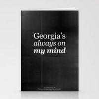 Georgia's always on my mind Stationery Cards