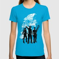 Waiting For The Dead Womens Fitted Tee Teal SMALL
