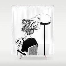 Octopus Salon Shower Curtain