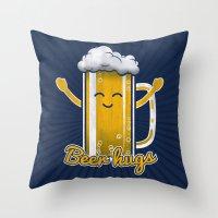 Beer Hugs Throw Pillow