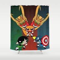 Powerpuff Girls Shower Curtain