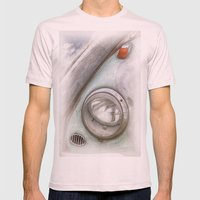 VW Beetle Mens Fitted Tee Light Pink SMALL