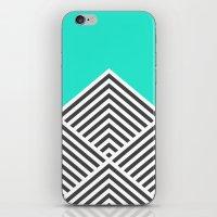 Minty Fresh Chevron iPhone & iPod Skin