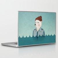 bill murray Laptop & iPad Skins featuring Bill Murray - Life Aquatic by Drivis