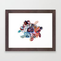 Earth's Loveliness, Agate Collection Framed Art Print