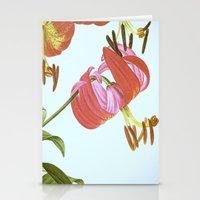 I. Vintage Flowers Botanical Print by Pierre-Joseph Redouté - Lilies Stationery Cards