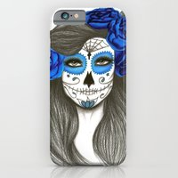 sugar skull iPhone & iPod Cases featuring Sugar Skull by Lidiane Dutra