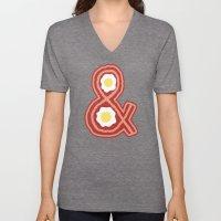 Bacon & Eggs Unisex V-Neck