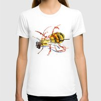 bee T-shirts featuring Bee by Lauren Thawley