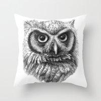 Intense Owl G137 Throw Pillow