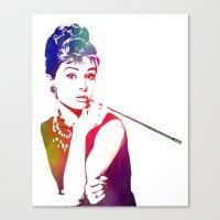 Audrey Hepburn Breakfast… Canvas Print