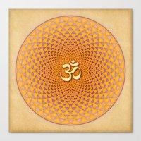 Lotus / Namaste  Canvas Print