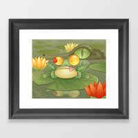 Swamp Snack Framed Art Print