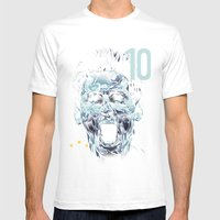 Messi Mens Fitted Tee White SMALL