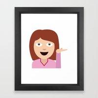 Sassy Emoji Framed Art Print