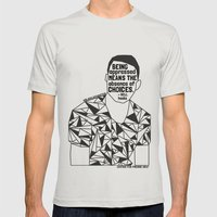Freddie Gray - Black Lives Matter - Series - Black Voices Mens Fitted Tee Silver SMALL