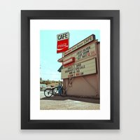 Marcia's Silver Spoon Cafe Framed Art Print