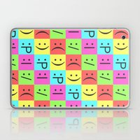 Smiley Chess Board Laptop & iPad Skin