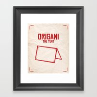 Origami: The Tent Framed Art Print