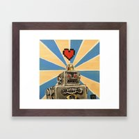8 Bit Love Machine Framed Art Print