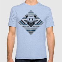 Indian Panda Mens Fitted Tee Tri-Blue SMALL