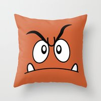 Minimalist Goomba Throw Pillow