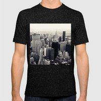 tribute to NYC Mens Fitted Tee Tri-Black SMALL