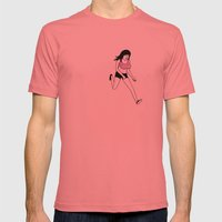 Seasick Sarah had a golden nose Mens Fitted Tee Pomegranate SMALL