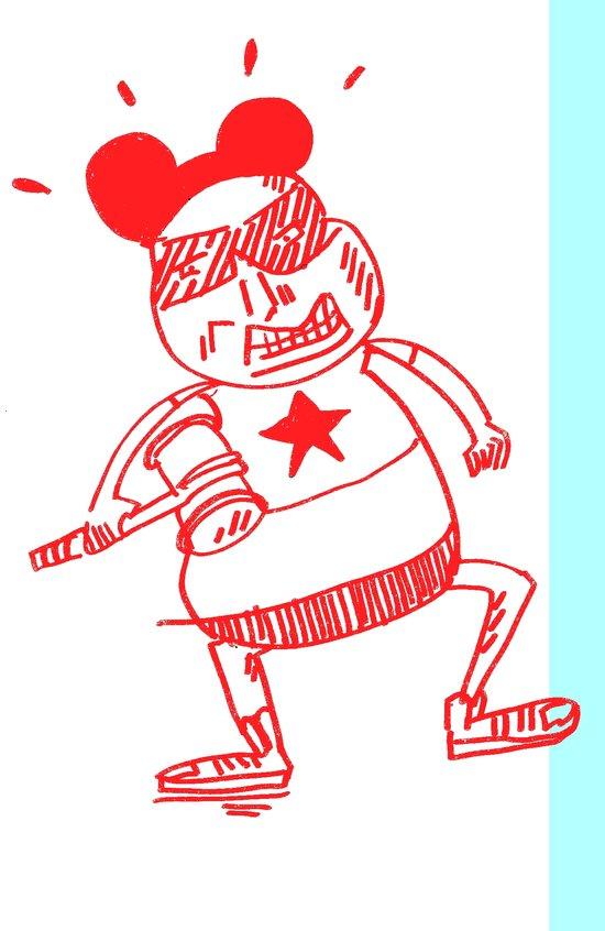 villain in red Art Print