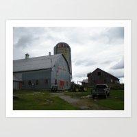 The Family Farm Art Print