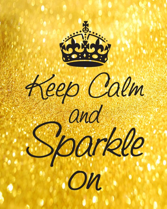 Keep Calm and Sparkle On Art Print
