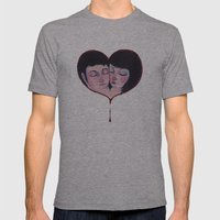 Bleeding Heart Mens Fitted Tee Athletic Grey SMALL