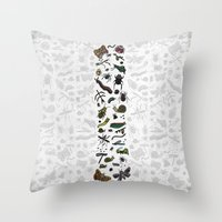 letter I - insects Throw Pillow