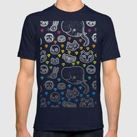 Hypno Animals Mens Fitted Tee Navy SMALL