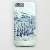 iPhone & iPod Case featuring Snowy Mountain by Leigh Eldridge
