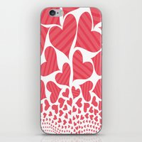 Bursting Hearts iPhone & iPod Skin