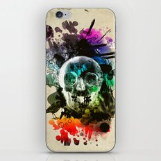 skull explosion iPhone & iPod Skin