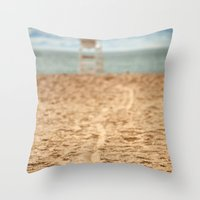 Sand Line Throw Pillow