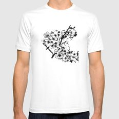 Cherry Blossom #2 Mens Fitted Tee White SMALL