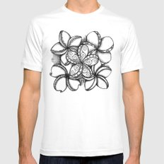 Plumerias Mens Fitted Tee White SMALL