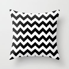 Chevron (Black/White) Throw Pillow