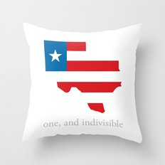 7th Flag of Texas Throw Pillow