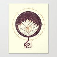 Canvas Print featuring Lotus by Hector Mansilla