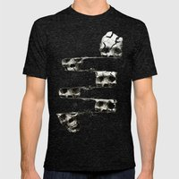 SKULL 3 Mens Fitted Tee Tri-Black SMALL